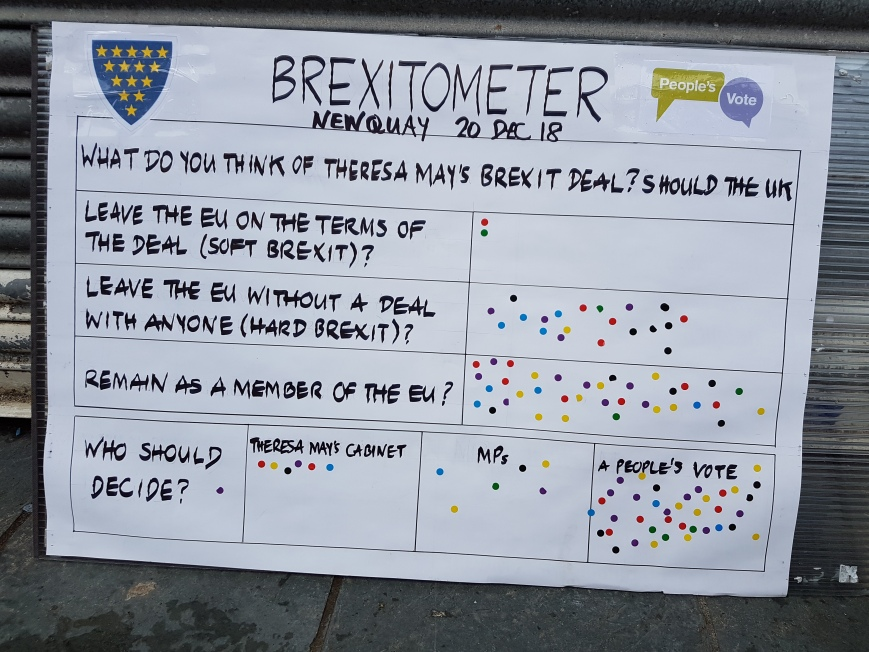 Brexitometer Newquay 20 December 2019