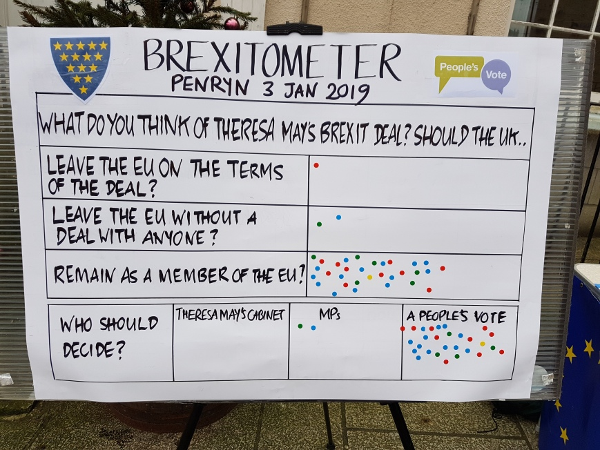 Brexitometer Penryn 3 January 2019