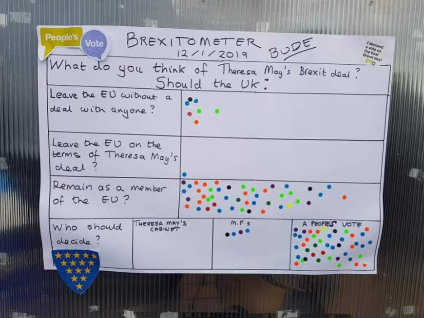 Brexitometer Bude 12 January 2019