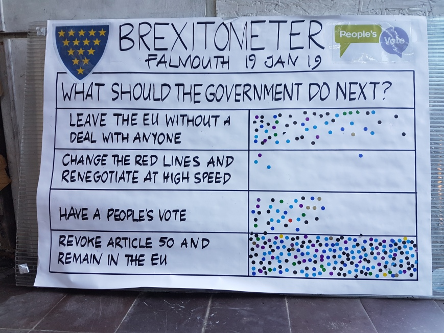 Brexitometer Falmouth 19 January 2019