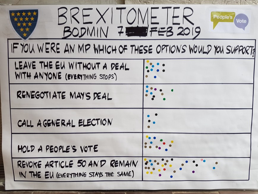 Brexitometer Bodmin 7 February 2019