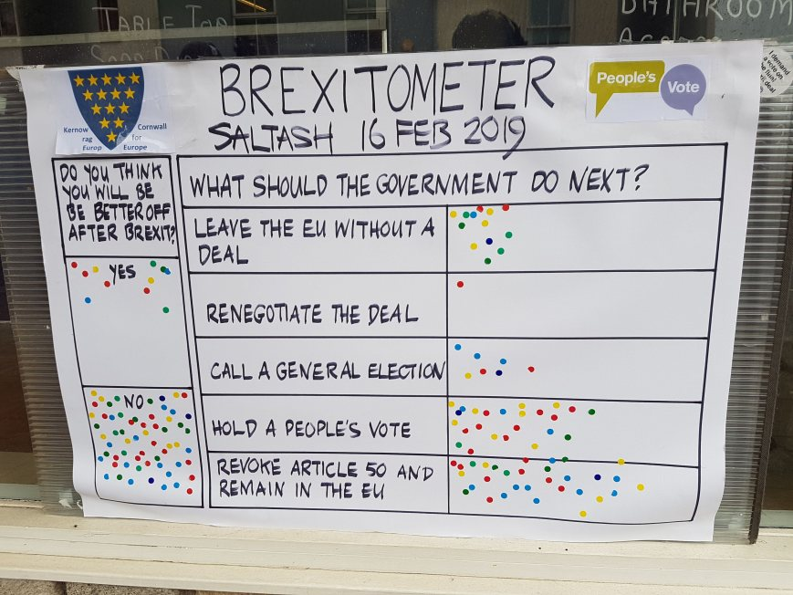 Brexitometer Saltash 16 February 2019