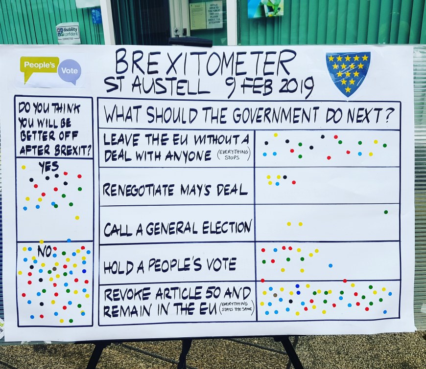 Brexitometer St Austell 9 February 2019