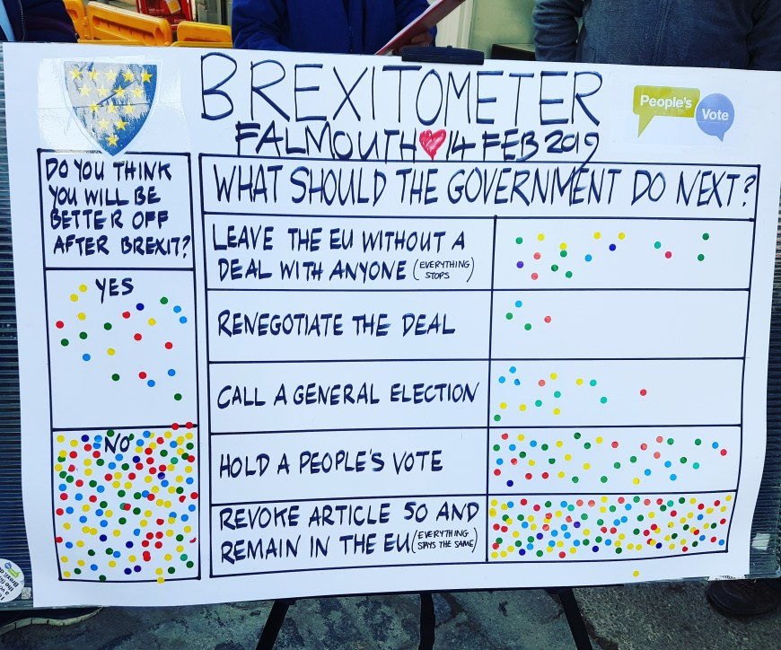 Brexitometer Falmouth 14 February 2019
